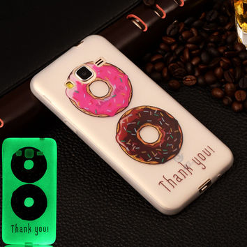 For Samsung Galaxy J1 J3 J5 J7 A3 A5 2016 J1 Ace Soft Silicon Luminous Phone Case Painted Fashion Pattern Fluorescent Back Cover