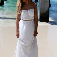 Padre Island White Tube Maxi Dress