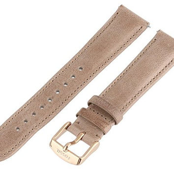 Fossil Women's S181194 18mm Leather Watch Strap - Tan