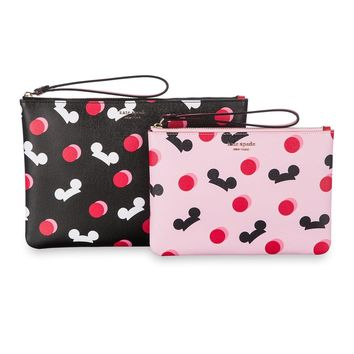 Disney Mickey Mouse Ear Hat Pouch Duo Pink Black Kate Spade New York New w Tag