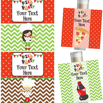 Pizza Party Lip Balm- Set of 5 - Pizza Birthday Party - Pizza Party - Party Favors -  Pizza Birthday Invitation - Birthday Card - Favor Bags