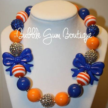 "20"" University of Florida Gators Bubble Gum Necklace"