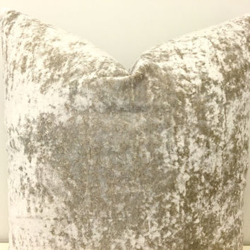Beige Velvet Pillow, Velvet Pillow, Decorative Ivory Pillow, Velvet Cushion Covers, Pillow, Throw Pillow, Beige Velvet Couch Pillow Covers