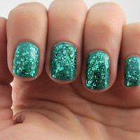 Teal Me...Please - Teal, Prism Glitter Nail Polish