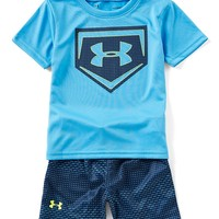 Under Armour Baby Boys 12-24 Months Home Play Short-Sleeve Tee & Shorts Set | Dillards
