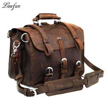 Thick Crazy horse leather travel bag travel backpack men's real leather big capacity travel bag Large capacity weekend bag