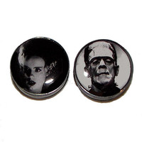 Frankenstein's Monster and His Bride Plugs  1 by PlainJanePlugs