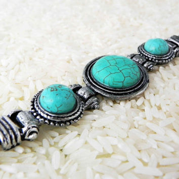 TWILIGHT DANCE BRACELET Southwestern Style Turquoise Bracelet bohemian collection