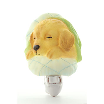 Baby Puppy Night Light, Ibis & Orchid Nightlights, NIB, 50088