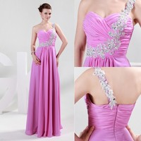 New Elegant Evening Party Long Dress Gown Weddding Bridesmaid Formal Prom Dress