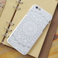 Womens Vintage Lace Floral iPhone 5S 6 6S Plus Case Solid Cover iPhone 7 7 Plus Case Cover + Free Shipping + Free Gift Box