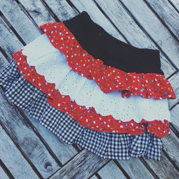 Baby Skirt- Toddler Vintage Skirt- Cute Skirt- Lollipops- Ruffle Skirt- Girls Skirt- 6 months Baby Clothes- 12 months Baby Clothes- Lace