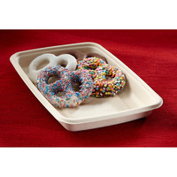 Eco Friendly Molded Pulp 30 oz Rectangular Food Container/Case of 300