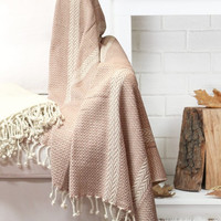 2 Pack 100% Cotton Throw Blanket Anchor Shores Coral