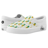 Pineapples pattern printed shoes