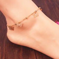 Jewelry Shiny Sexy New Arrival Stylish Gift Cute Ladies Accessory Bells Butterfly Anklet [8080499975]