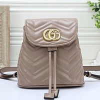 Gucci Women Fashion Pattern Leather Backpack Bag
