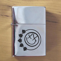 GV608-Blink 182 Music Polished Chrome Finished Lighter
