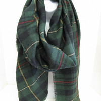 Blanket Scarf - Hunter Green