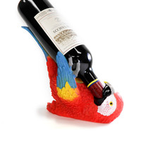 Flaming Red Parrothead Wine Holder