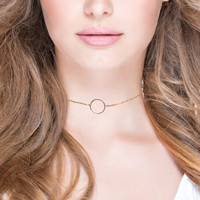 Come and Go Around Open Circle Chian Choker