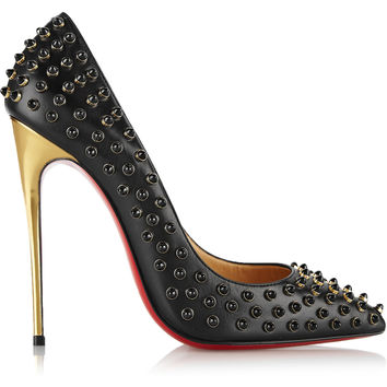 Christian Louboutin - Follies Cabo 120 embellished leather pumps