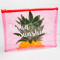 See Thru Beach Pouch - Pineapple