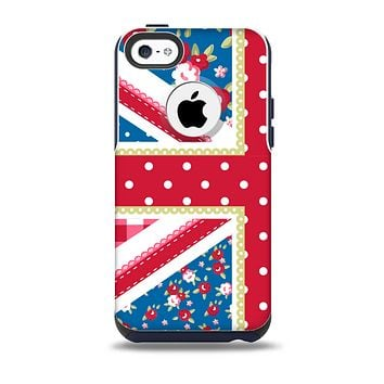 The Fun Styled Vector London England Flag Skin for the iPhone 5c OtterBox Commuter Case