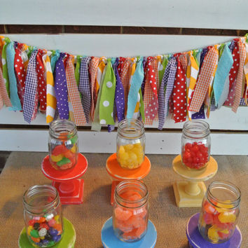 rainbow primary color cupcake stand set party decor dessert table decor red orange yellow green blue purple