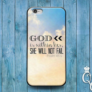 Cute Psalms Bible Verse Quote Blue Cloud Case iPod iPhone White Cool Jesus God