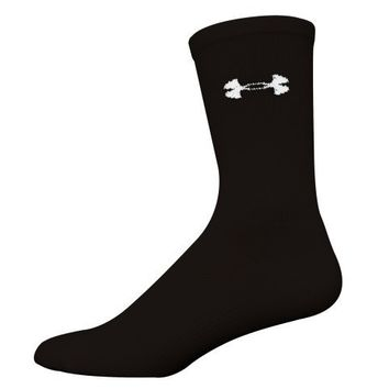 Under Armour Men's Hockey Crew Socks (2 Pair), Black, Medium