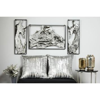 Contemporary Abstract Metal Frame Wall Décor