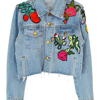Full Bloom Denim Jacket