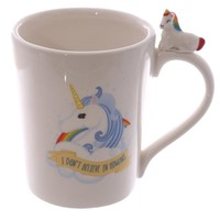 """I Don't Believe In Humans"" 3D Coffee Mug"