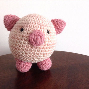 Amigurumi Pig, Crochet Pig, Pig plush toy, Amigurumi crochet animals, Plush pig, Knitted animals, Cute piggy, Pig decor, Pig gifts, Pig toy