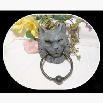 Cat Gargoyle Door Knocker