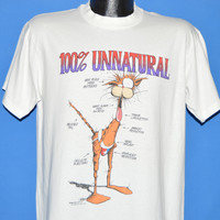 80s Bill The Cat 100% Unnatural t-shirt Large