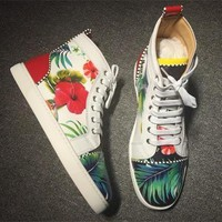 Cl Christian Louboutin Leather Style #2155 Sneakers Fashion Shoes