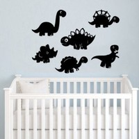 Dinosaurs Wall Vinyl Decals Sticker Home Interior Decor for Any Room Housewares Mural Design Graphic Bedroom Nursery Baby Kids Wall Decal (5432)