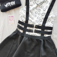 Spikes & Hearts Caged Suspender Dress
