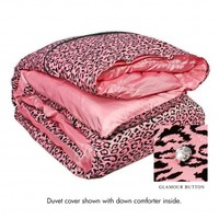 Wake Up Frankie - Blushing Cheetah Duvet (Princess Pink) : Teen Bedding, Pink Bedding, Dorm Bedding, Teen Comforters