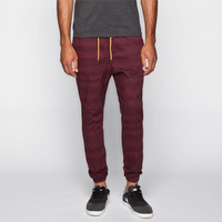 Lira Toltec Mens Jogger Pants Burgundy  In Sizes