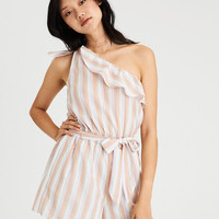 AE ONE SHOULDER TIE ROMPER, Multi