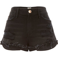 River Island Womens Black Ruby denim shorts