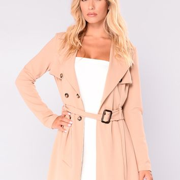 Ways To Go Trench Coat - Camel