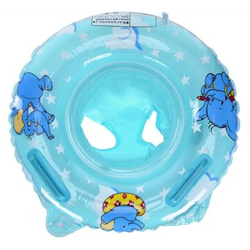 Infant Baby Inflatable Swim Circle Double Handle Safety Baby Seat Float Swiming Pool Ring Inflatable Water Toys Swimming
