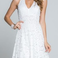 Angelic Dreams White Lace Halter Summer Dress