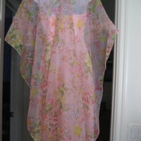 Vintage Pink Evening Gown with Cape Very Elegant