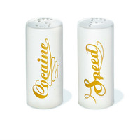 Salt & Pepper Shakers Speed & Cocaine