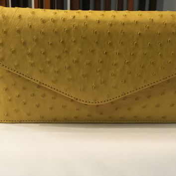 Envelope Ostrich Cross Body/ Clutch Bag